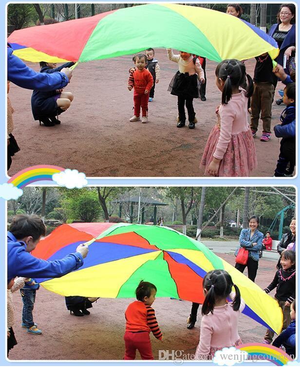 Bambini bambini giocano paracadute arcobaleno ombrello paracadute giocattolo gioco all'aperto esercizio sport toyg outerdoor giocattolo attività 2 m / 3 m / 3.6 m / 4 m / 5 m / 6 m