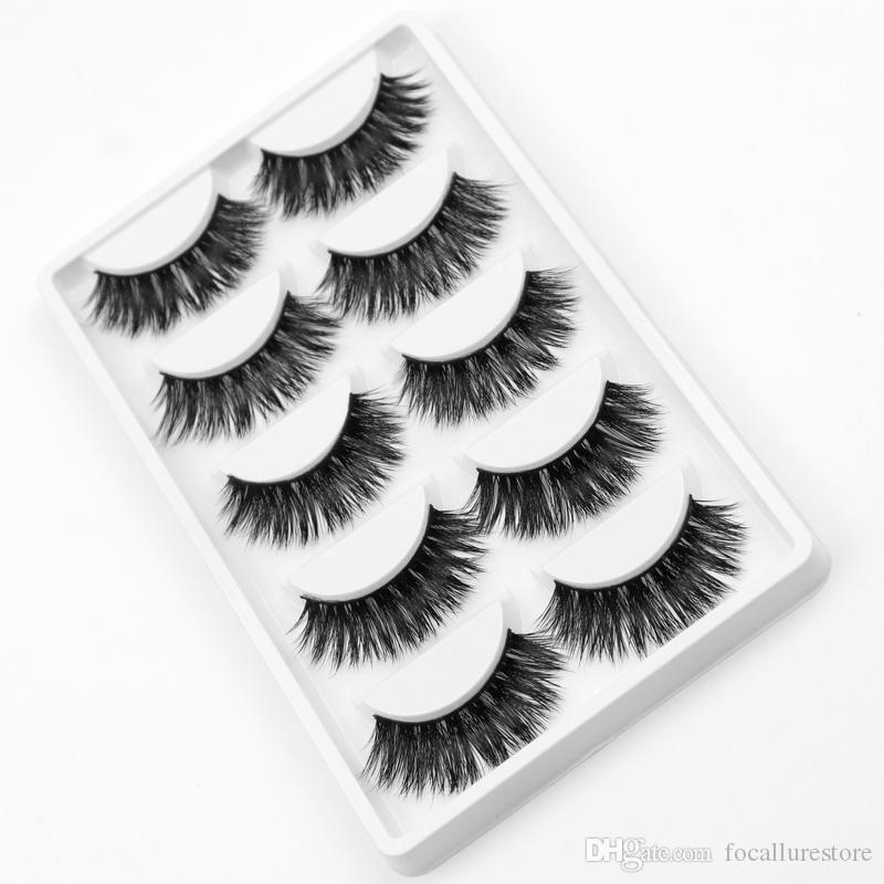 649c7680de1 3D Mink False Eyelashes Natural Extension Long Cross Thick Mink Lashes  Handmade Eye Lashes K01 Fake Eyebrows How To Apply False Eyelashes From ...