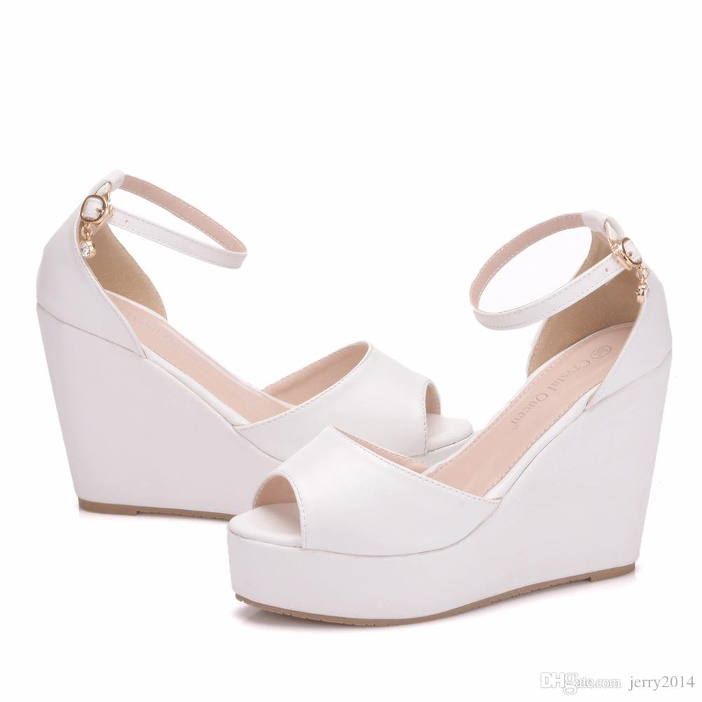 0b5d4a0de0b New Bohemia Style Peep Toe Shoes For Women Hemp Rope Wedge Heels Fashion  Platform Beading Wedding Shoes Wedge Heels Plus Size Bridal Sandals Strappy  Heels ...