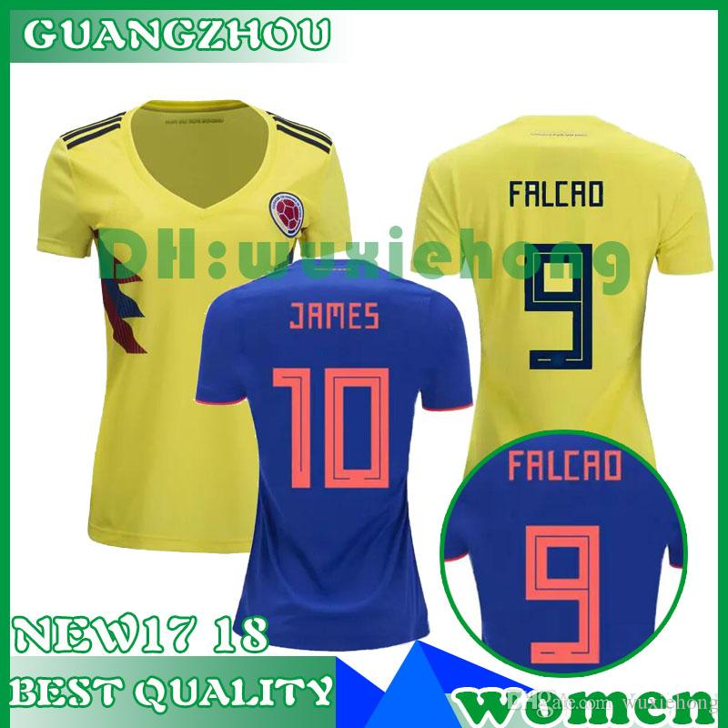 e9244c8f62d 2019 Colombia JAMES 2018 World Cup Women CUADRAD AGUILAR GUARIN Jersey  Colombia Home Yellow Away Blue Girl Soccer Jerseys Female Football Shirt  From ...