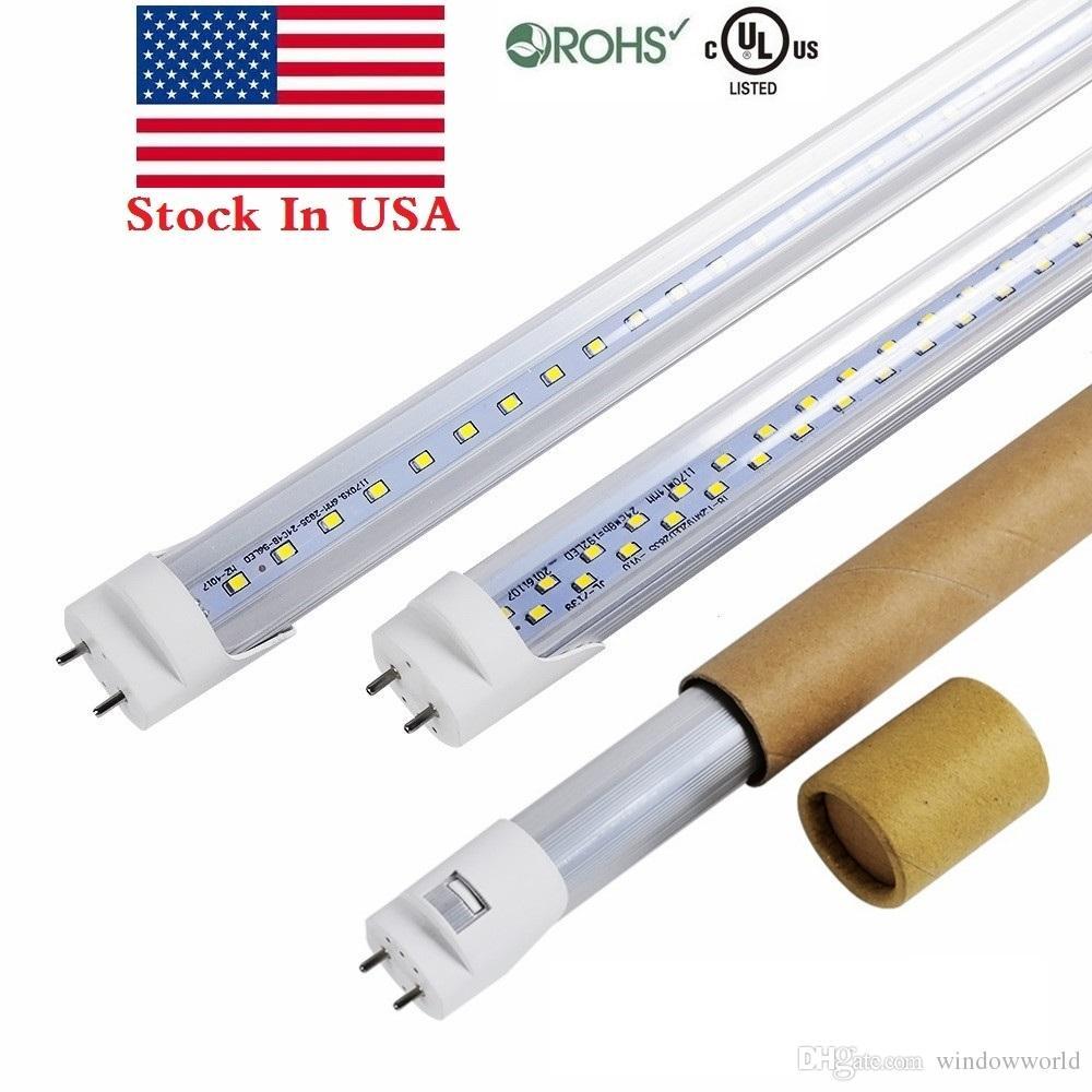 Pin 22w 18w In Lampe UsTubes Alimentés Deux 28w À Bi Led Stock Un Tube Tft Blubs Ac 4ft Remplacer T8 Extrémités Lumière cLqRS3j5A4