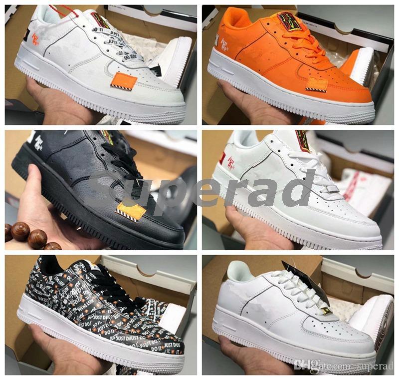 5b78bfc31bdf Acheter Il Suffit De Le Faire Hommes Chaussures De Course 1 Bas Hommes  Blanc Marque Sneakers Forces Entraîneurs Un Sports Skateboard Air Designer  Off ...