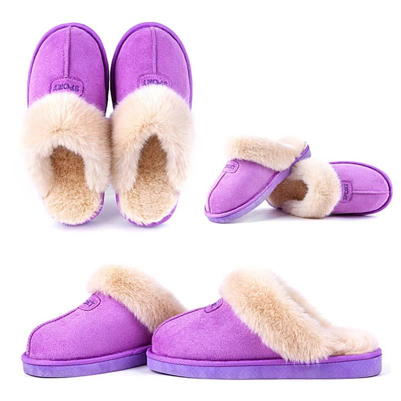 2016 Hot Sale Luxury Winter Plush Leather Furry Flip Flops House Fuzzy Fur Soft Bedroom Australian Slippers for Women no ug Anti