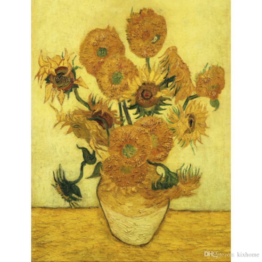 Großhandel Wand Kunst ölgemälde Sonnenblumen Berühmte Vincent Van