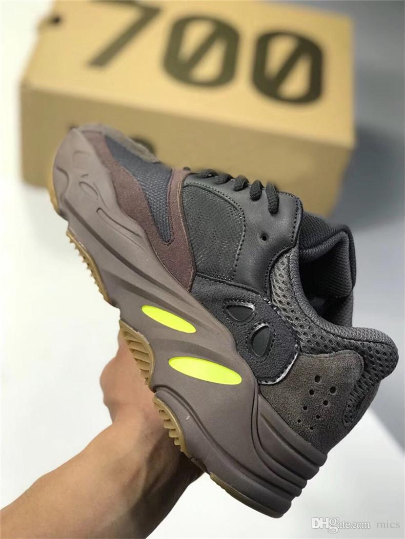 113cf9907ee09 2019 2018 Authentic Kanye West 700 Mauve EE9614 WAVE RUNNER Running Shoes  Men Women With Original Box Real Basf Bottom Athletic Sports US 5 13 From  Mics