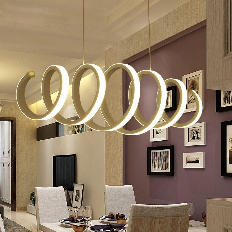 Lampade a sospensione principali acriliche di alluminio del candeliere la casa facendo uso dell'ufficio facendo uso della lampada della sospensione del pendente principale della cucina della barra della sala da pranzo