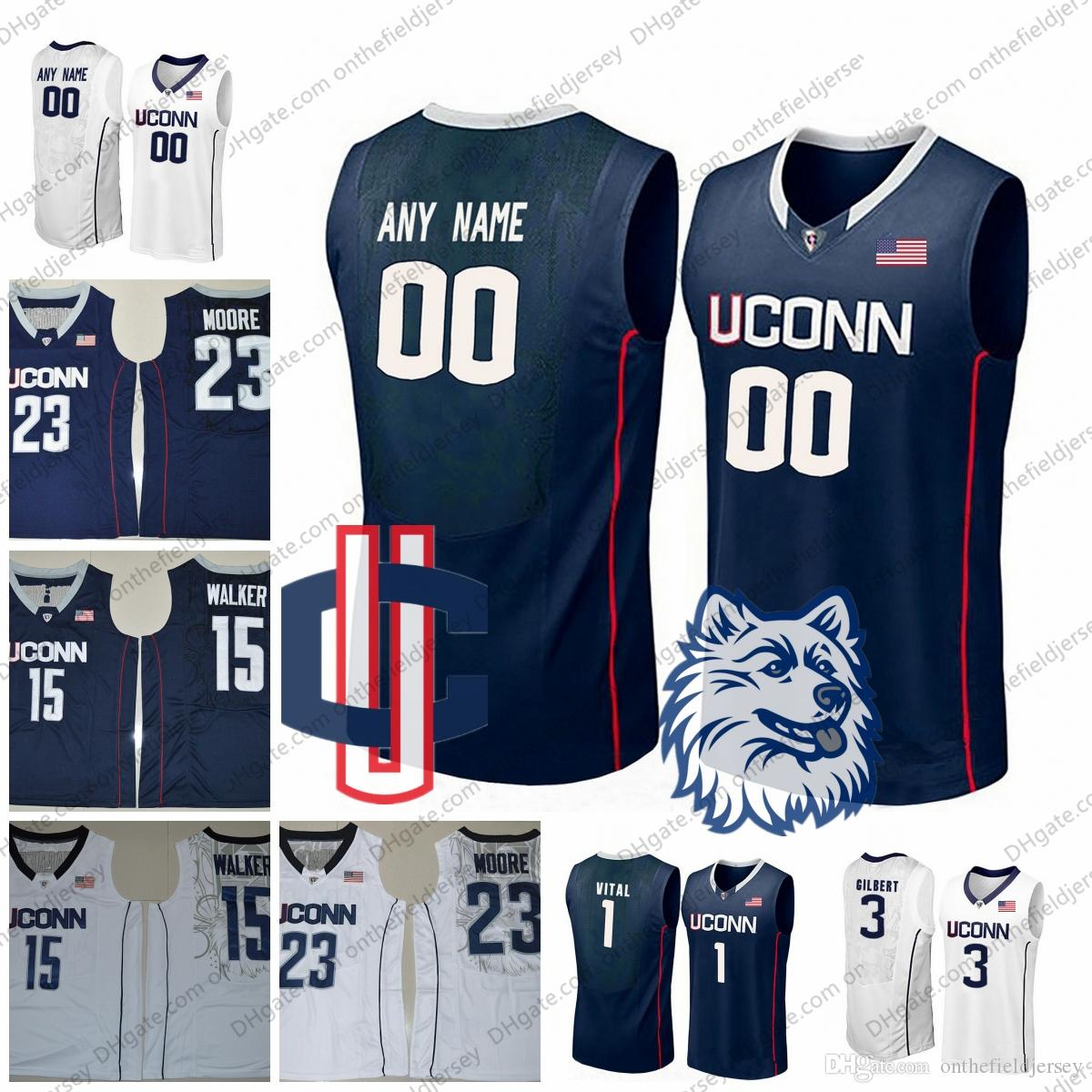 ... jersey 7bc31 24663  coupon 2019 custom uconn huskies any name number 15  kemba walker 4 jalen adams 1 christian 6a51ca010