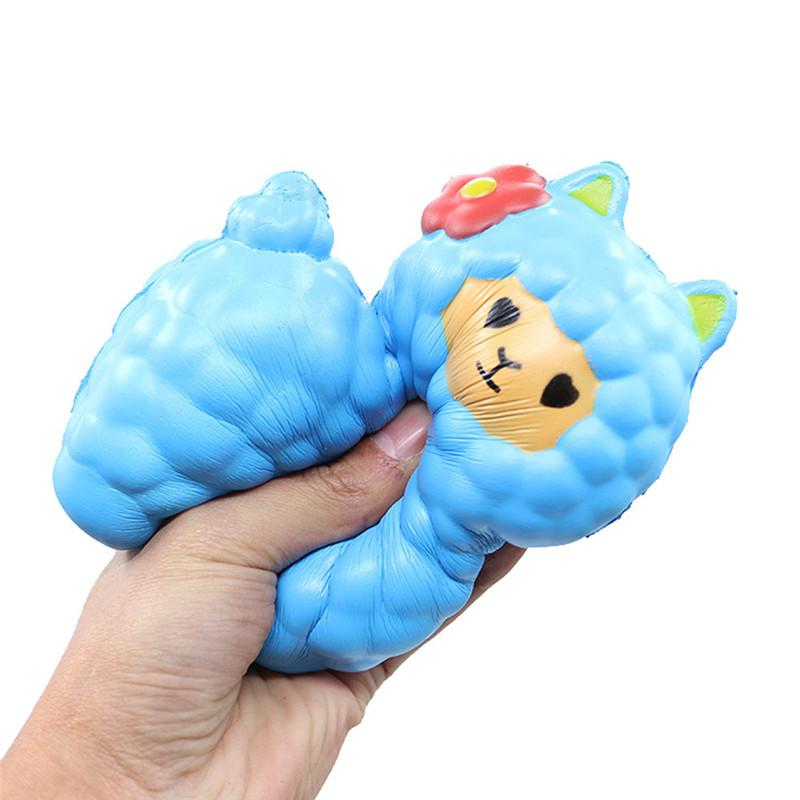16CM Cute Alpaca Squishy Sheep Phone Strap Decor Slow Rising Collection Kids Funny Sheep Toy Christmas New Year Gift