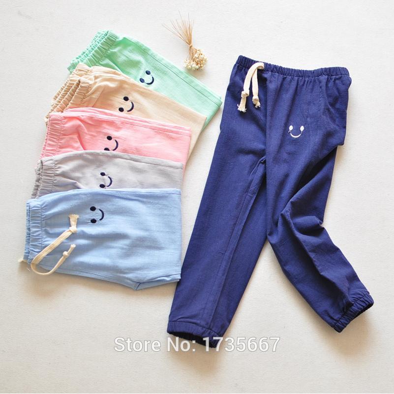 0b98703bdadd Travel Snail 100% Cotton Kids Pants Girls Harem Pants Boys Children Toddler  Trousers Elastic Waist 2 7 Yrs 2018 Summer New Kids Insulated Pants Slim  Boys ...