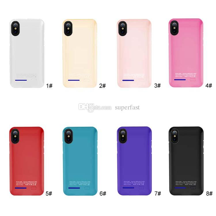 Battery Charger Case For iPhone X 8 Power Bank Charger Case Built-in Magnet For iPhone 7 6 External Powerbank Battery Backup With Package