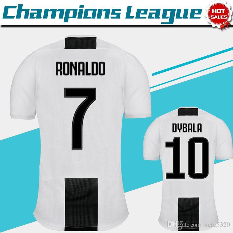 886ca6b05 2019 2019 Champions League Juventus Home Soccer Jersey 18 19 7 RONALDO  DYBALA Soccer Shirt MANDZUKIC PJANIC Football Uniform Sales Size S 4XL From  Xctc5320
