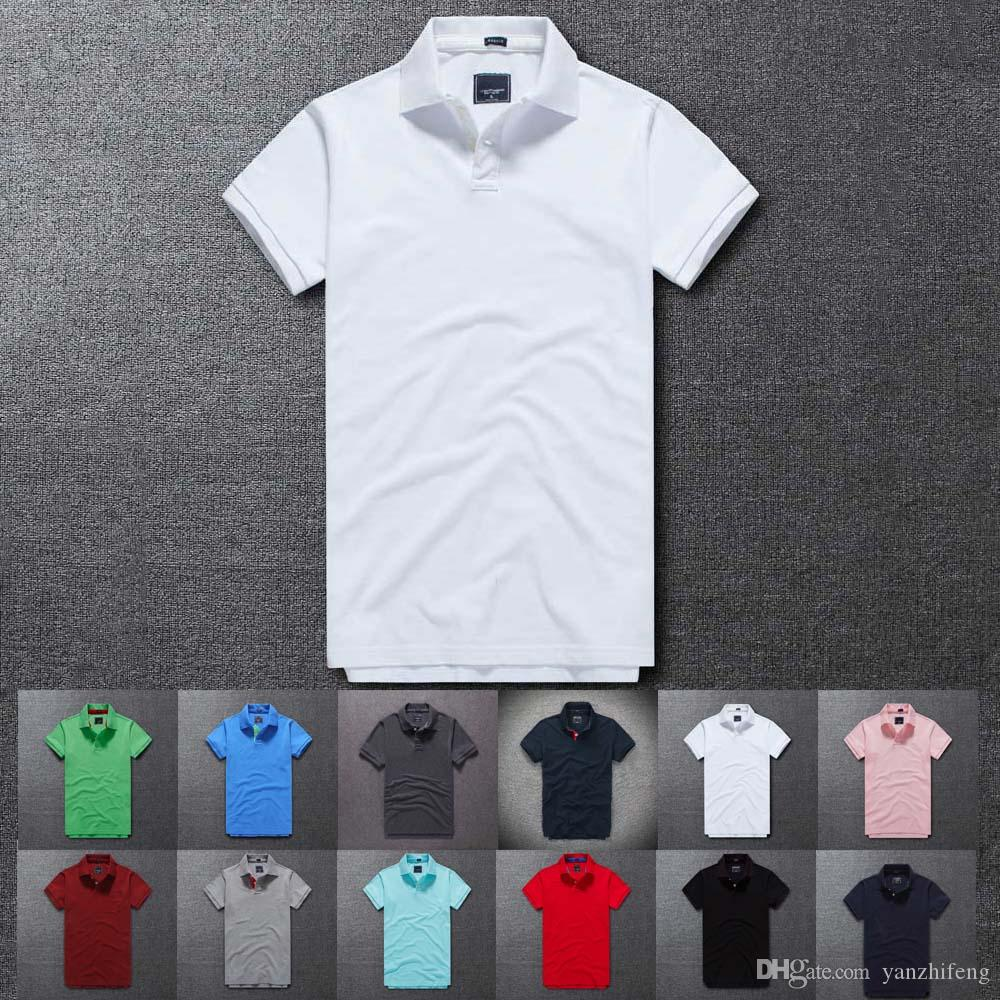 2018 Hot Sale Mens 100 Cotton Short Sleeve Polo Shirt T Shirt New
