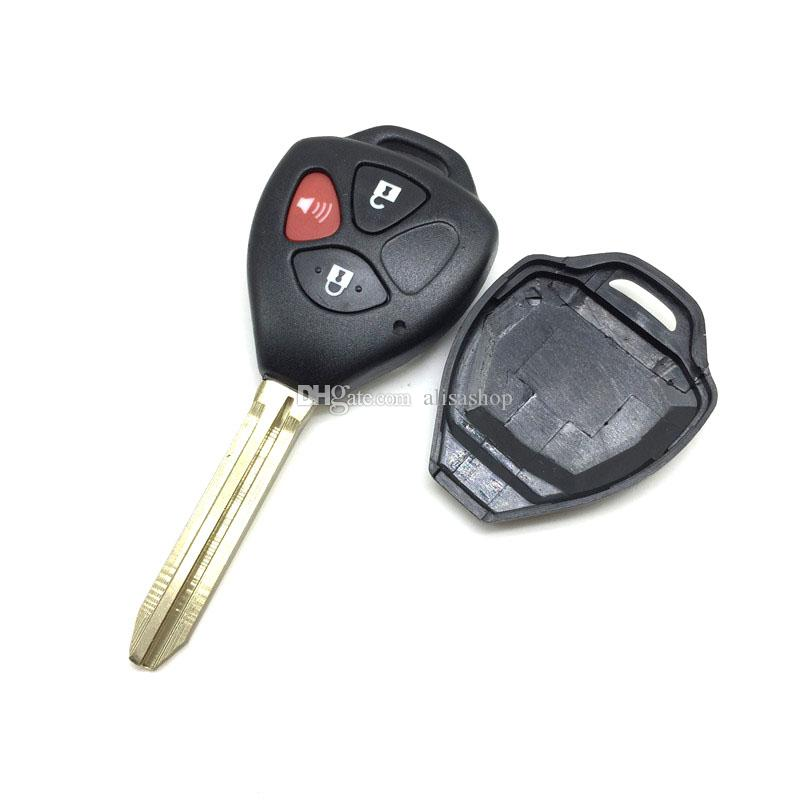 Toyota Camry smart car key case for Toyota 2+1 Buttons remote car key shell for toyota