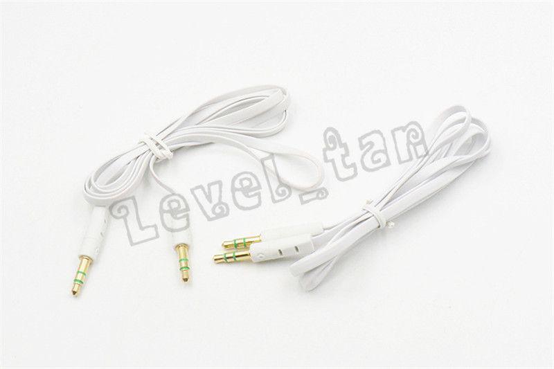 Audio Aux Cable 1m Flat Noodle Aux Cable 3.5mm Auxiliares de audio Cables macho a macho Car audio Cable estéreo para teléfono