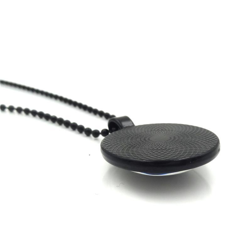 XUSHUI XJ Puerto Rican Coqui Glas Cabochon Anhänger Halskette Modeschmuck Schwarz Kette Perlen Lange Halsketten für Frauen