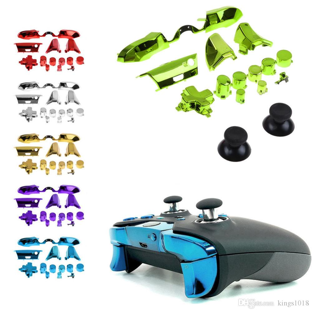 For Xbox One Elite 3 5mm Limited Controller Repair Replacement Chrome Full  Set Dpad RT LT RB LB ABXY Guide ON OFF Buttons
