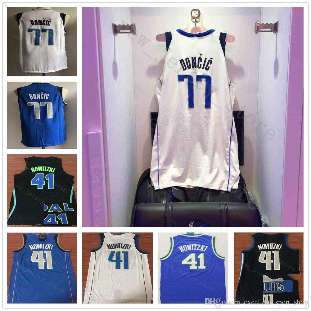 47863195e15 reduced 2018 ncaa college the city edition black 41 dirk nowitzki jersey  top quality stitched blue