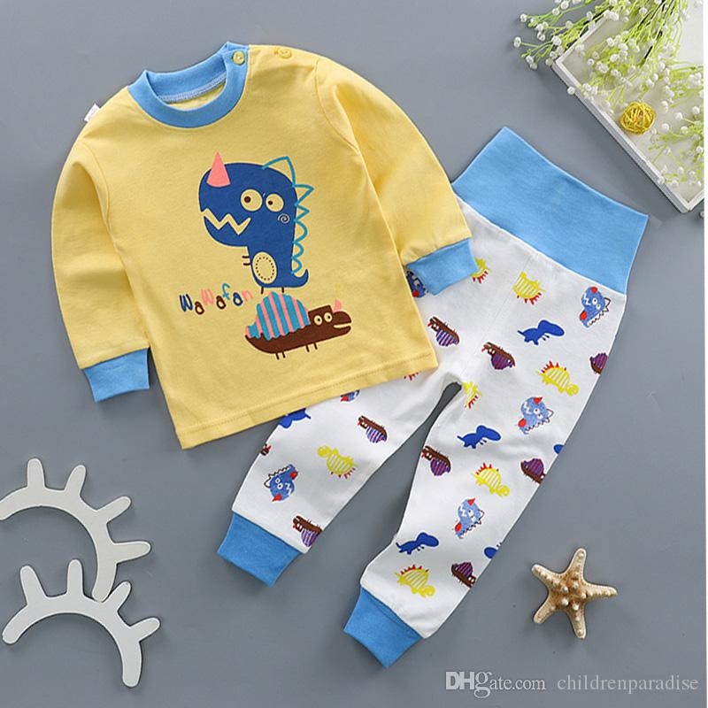 00285db653 018 Children Autumn Pajamas Kids Boy Pajamas Girl Pajamas Suit ...