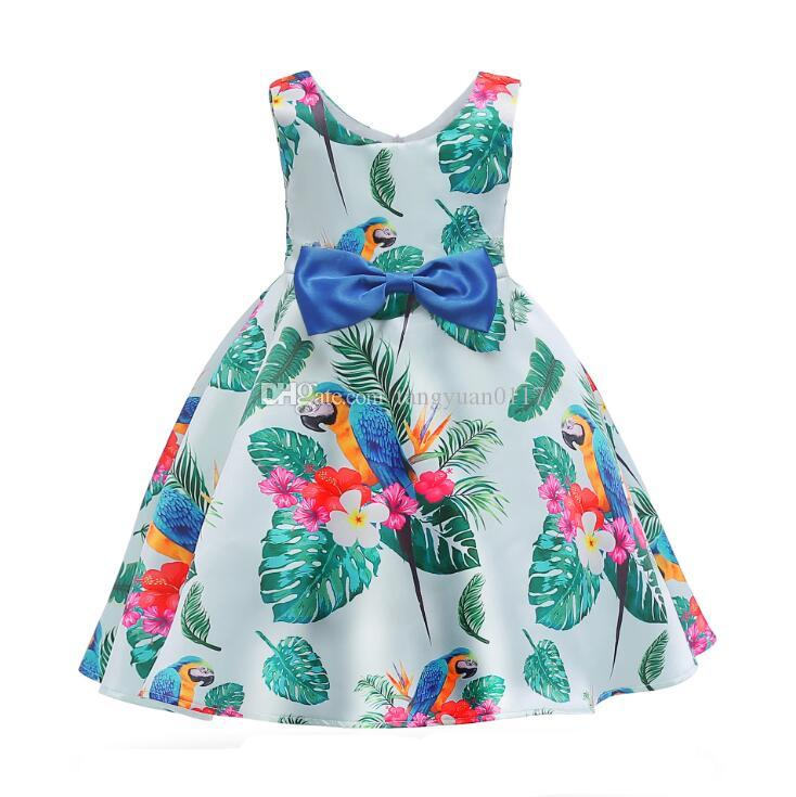 ac95b76f0 New Baby Girls Princess Floral Dress Children Sleeveless Printed ...