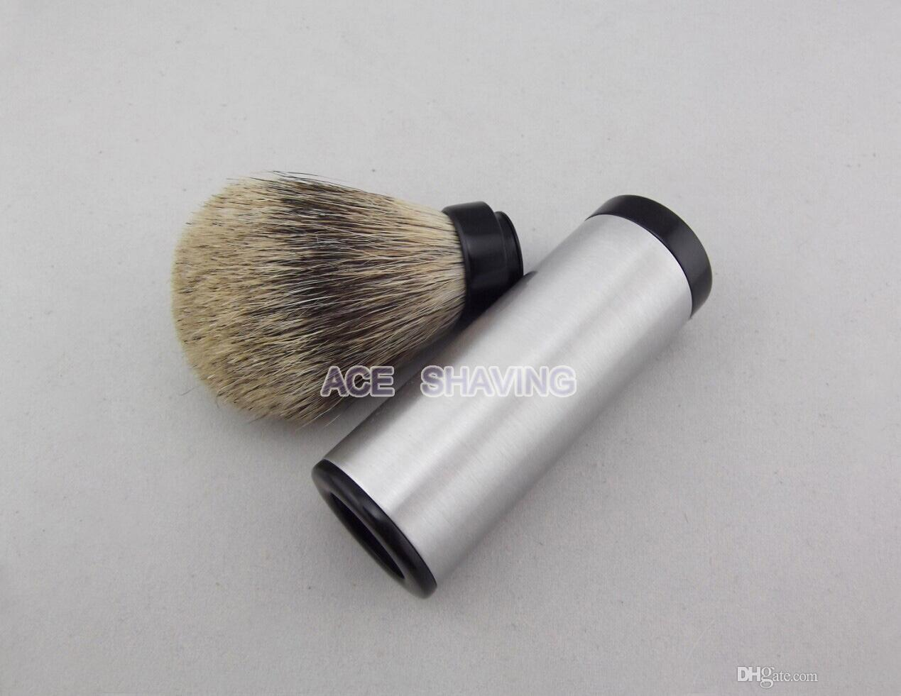 Stainless 100% Aluminium Alloy Handle Best Badger Hair Travel Shaving Brush Man Gift