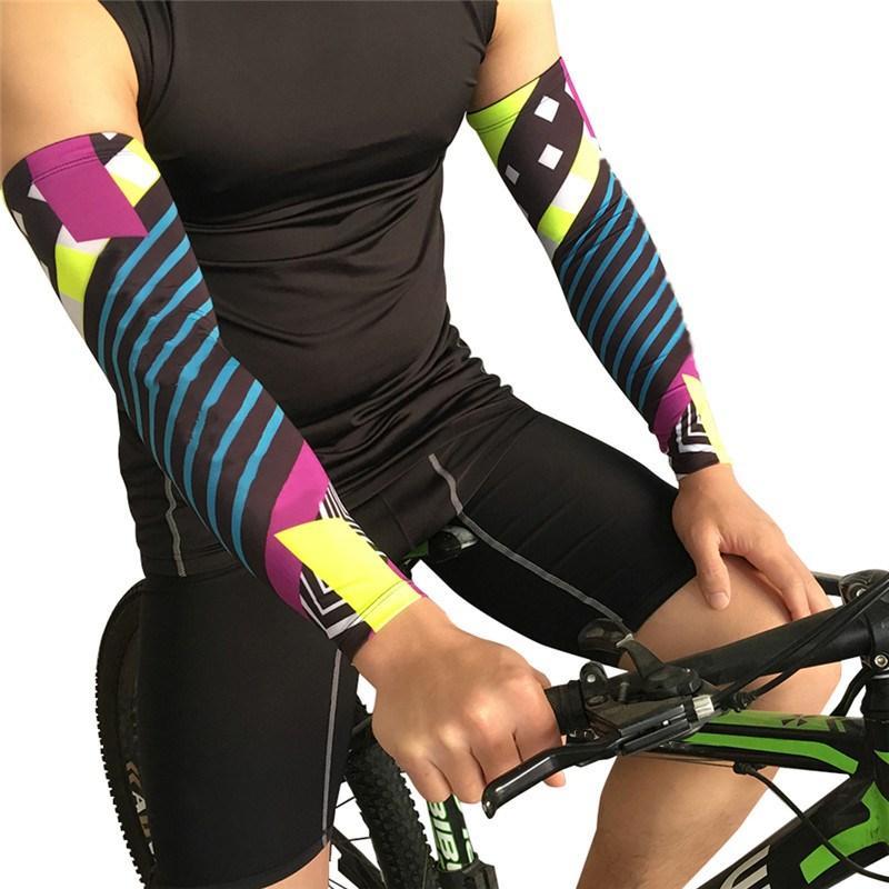 d792a251 Compre Men Compression Arm Warmer Sun UV Protection Hot Sports Running Bike  Ciclismo Baloncesto Voleibol Golf Codo Brazo Mangas Cover A $34.69 Del  Bdsports ...