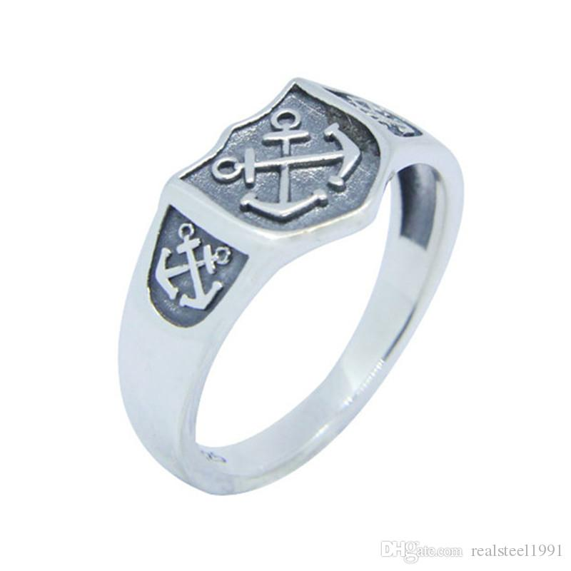 New Design 925 Sterling Silver Anchor Ring S925 Hot Selling Lady