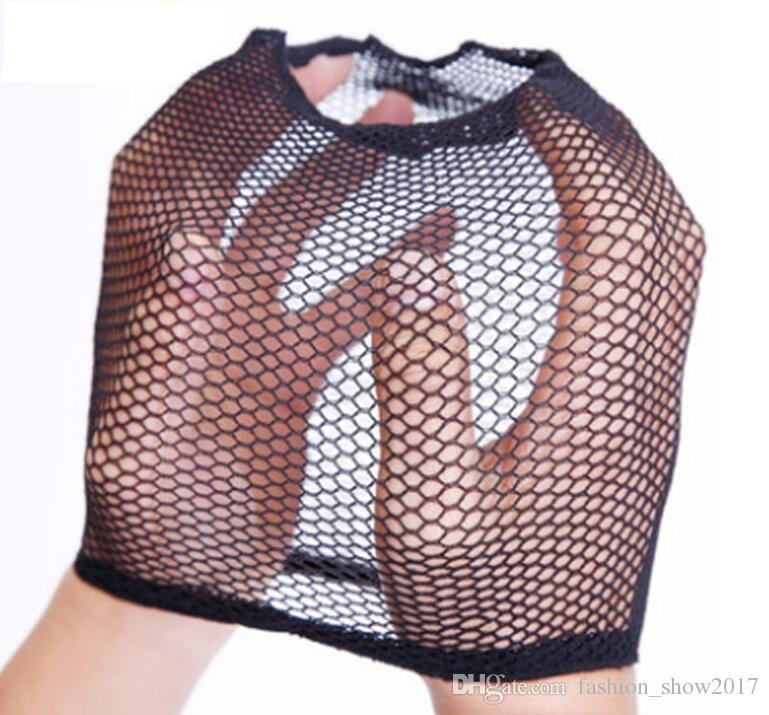 Nueva red de tejido para el cabello Talla única para todos Gorro de malla de malla Tapa de cúpula de extremo abierto Gorro de tejido fresco Redes para el cabello Gorras de peluca de nylon