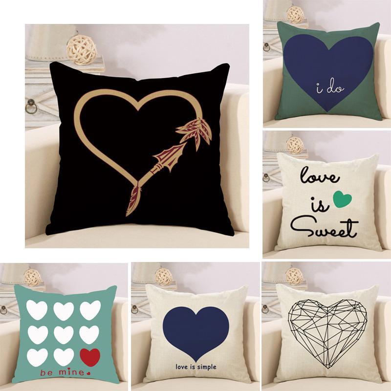 Cartoon Cotton Flax Peach Heart And Soul Pillow Cushion Office Car Custom Peach Decorative Throw Pillows