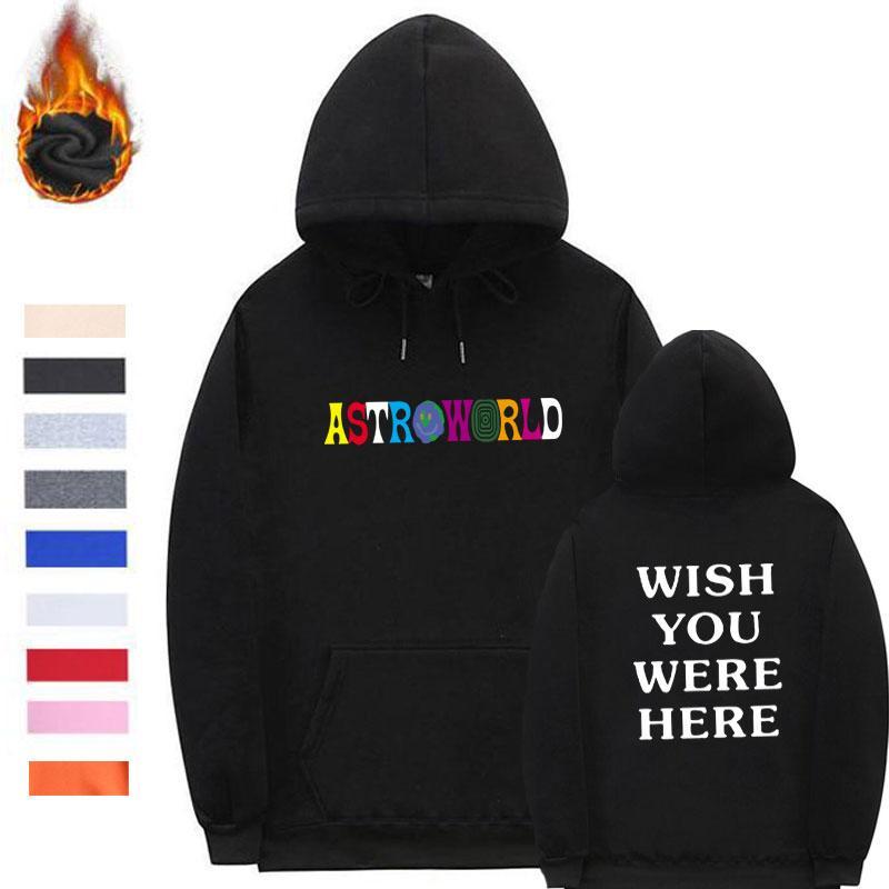 Compre Streetwear ASTROWORLD Hoodies Poleron Hombre Fio Mangas Com Capuz  Camisola Das Mulheres Dos Homens Astroworld Roupas Masculino Plus Size S  XXL De ... fb590b18bc56