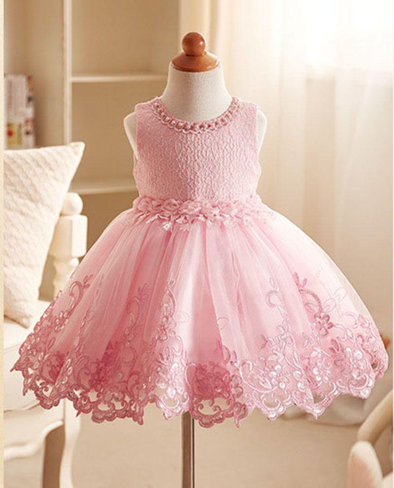 aaa1aed0bd Compre 3 A 12 Anos Crianças Adolescente Meninas Rendas Pérolas Vestidos De  Flores