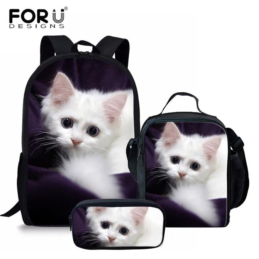 34b34d890d7 FORUDESIGNS Adorable Kitten Cat School Backpack For Girls Orthopedic  Satchel Schoolbag In Primary Students Notebook Bag Sports Bags Bags For Men  From ...