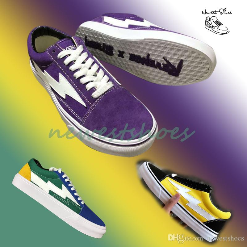 1e0625a52ca0 2019 2018 New Revenge X Storm Old Skool Australian Exclusive Purple White Blue  Green Yellow Low Cut Limited Teal Flame Mens Women Canvas Shoes From ...