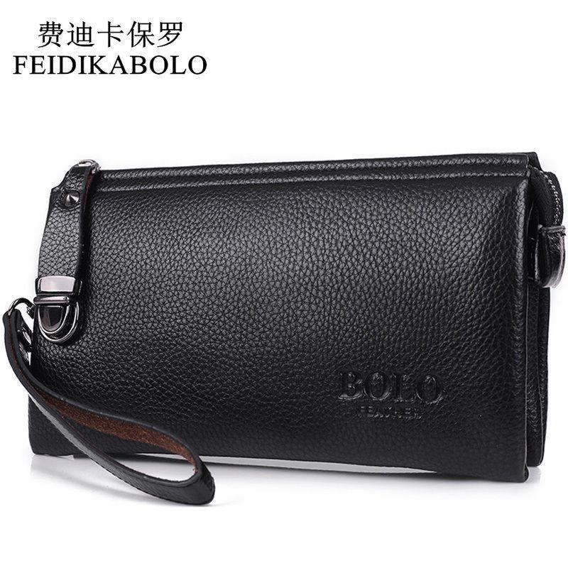 62f805a8591b3 Großhandel FEIDIKABOLO Berühmte Marke Männer Brieftasche Luxus Lange Clutch  Handliche Tasche Moneder Männlichen Leder Geldbörse Männer Clutch Carteira  ...