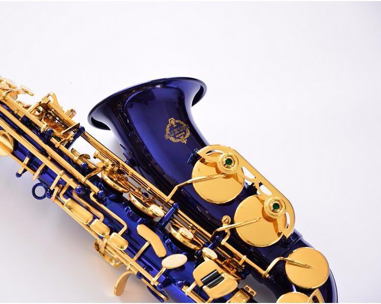 عالية الجودة اليابان سوزوكي ألتو ساكسفون إب لحن e شقة SR-475 f ساكس الأزرق الذهب مفتاح المهنية النحاس الموسيقى صك مع المعبرة