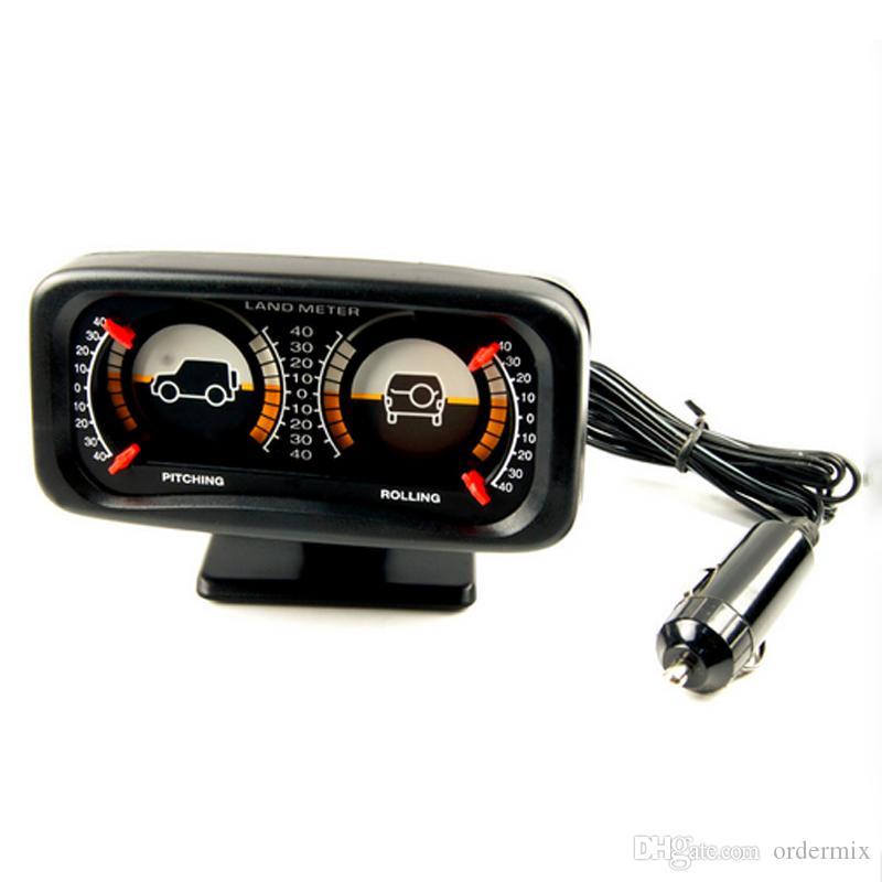 TYPER TR-9601 Auto Boussole réglable Compteur de compteur Indicateur de pente Land Meter avec éclairage LED pour véhicule tout-terrain SUV Bille de guidage