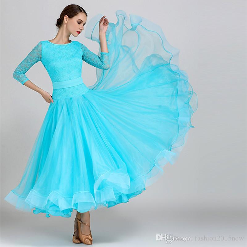 21c01680bdb0 Women Dance Dress Standard Ballroom Competition Dresses Costumes For ...