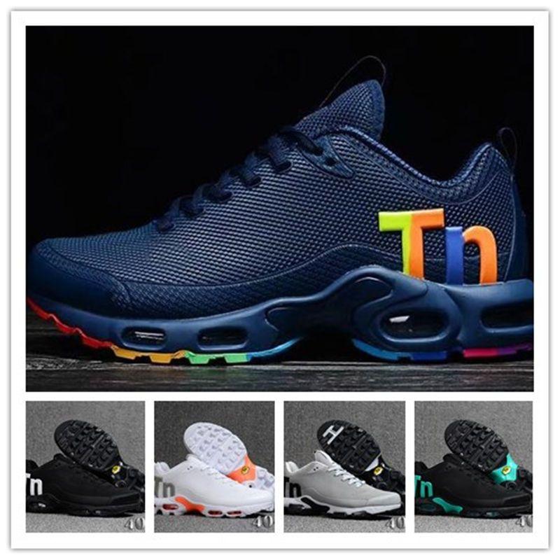 new styles d4637 07e4b Compre 2019 Tn Mercurial Los Más Nuevos Hombres Zapatillas TN Zapatillas De  Deporte De Diseño Chaussures Homme Hombres Zapatillas De Baloncesto Hombre  ...