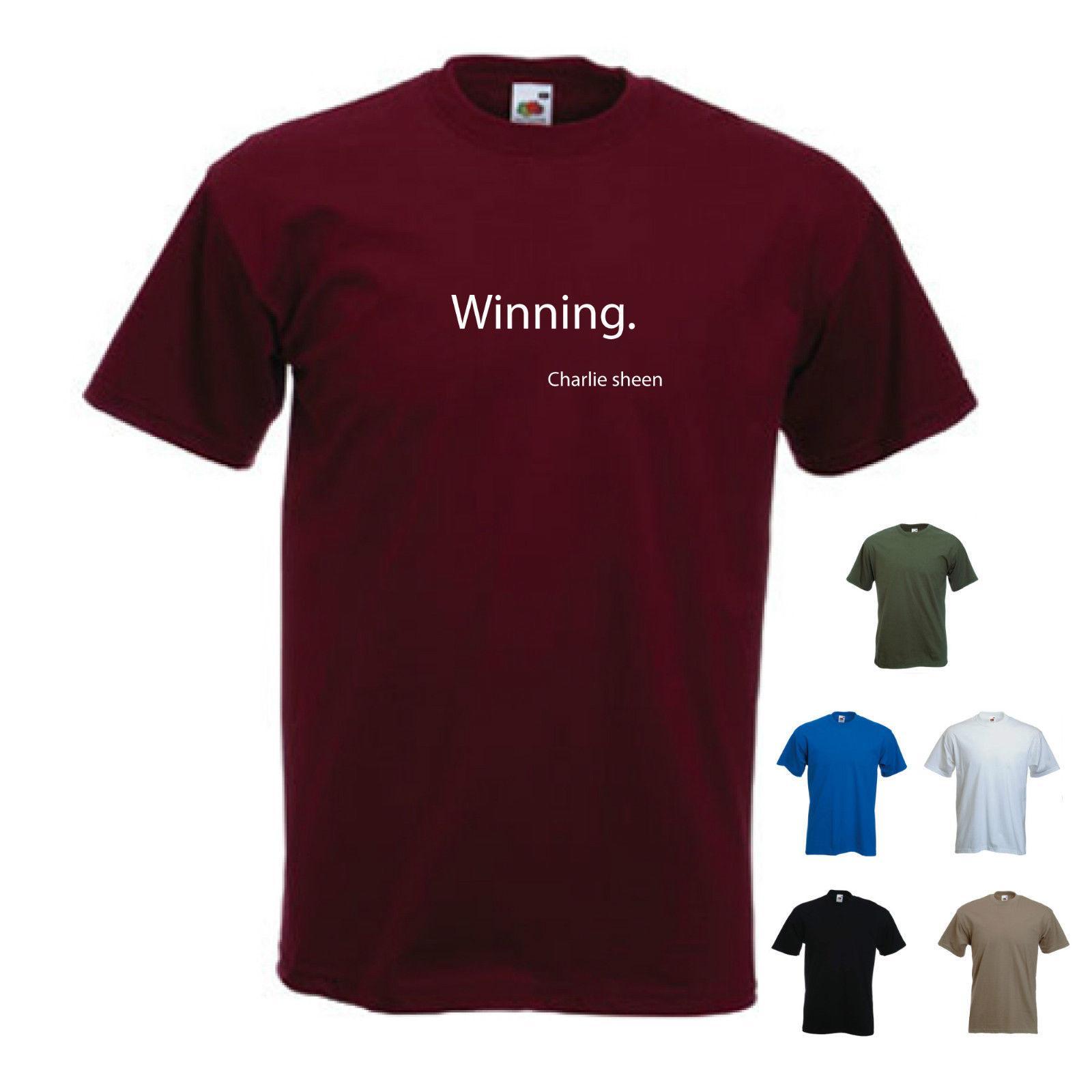 62e3fed985d163 Großhandel Winning Charlie Sheen Das T Shirt Für Herren Lustiges Freies  Verschiffen Unisex Von Young ten