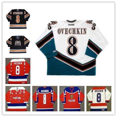 77563e63365 2019 ALEXANDER OVECHKIN 8 Washington Capitals 2005 CCM Vintage Away Hockey  Men S Jersey Team Russia Vintage Jerseys From Gamemen