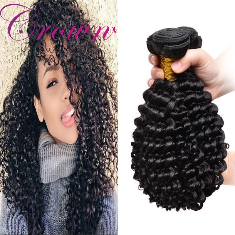 Indian Hair Weave Weft Deep Wave Great Remy Can Be Dyed Indian Hair