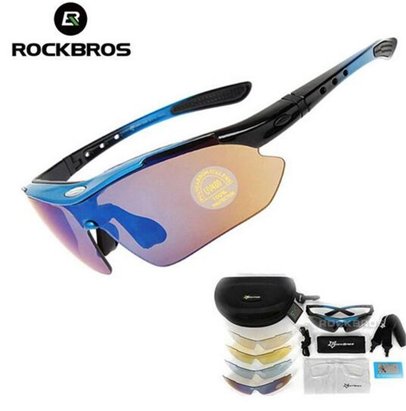 0a6e7a76564aa2 RockBros Polarized Cycling Glasses TR-90 PC UV400 Sunglasses Gray with 3  Lens Clothing