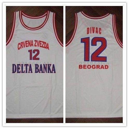 2018 Divac Kk Crvena Zvezda Basketball Jersey Embroidery Stitched