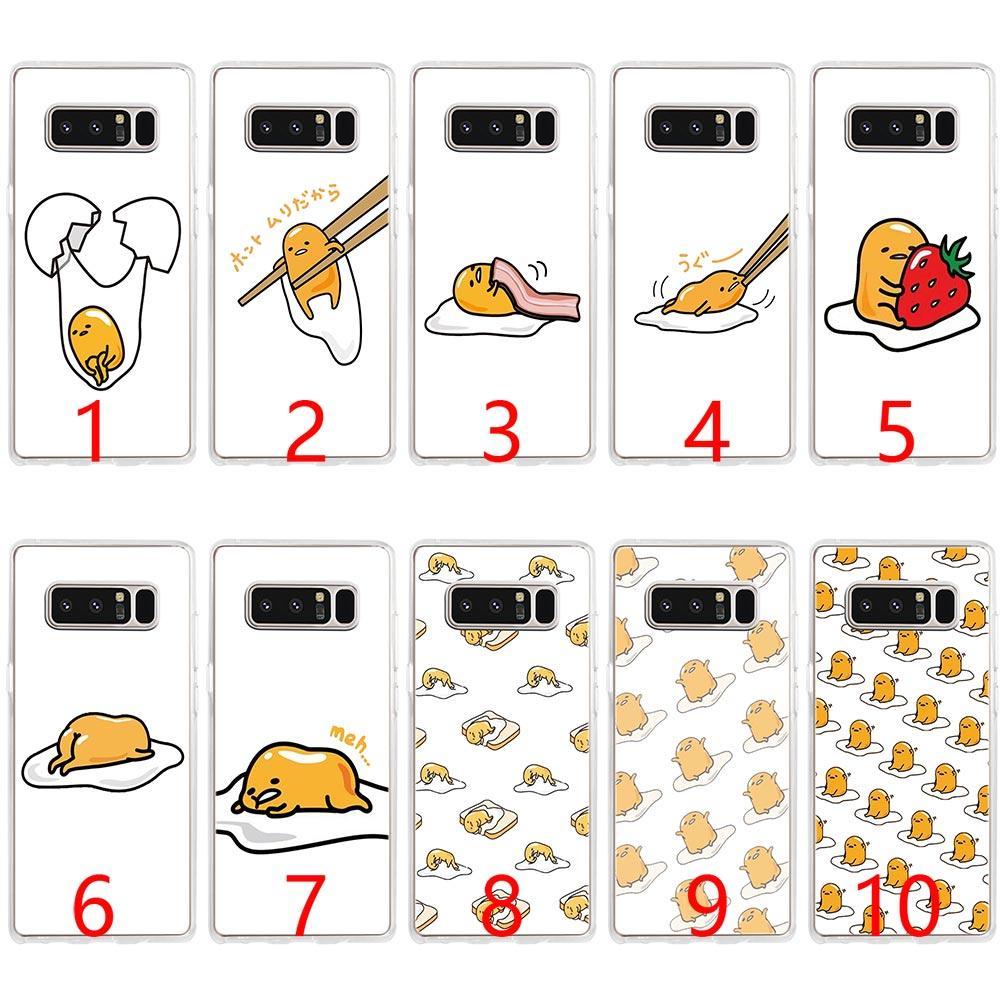 best website 186e5 a7921 Cute Funny Gudetama Cartoon Egg Soft Silicone Phone Case for Samsung Note 9  8 S7 Edge S8 S9 Plus