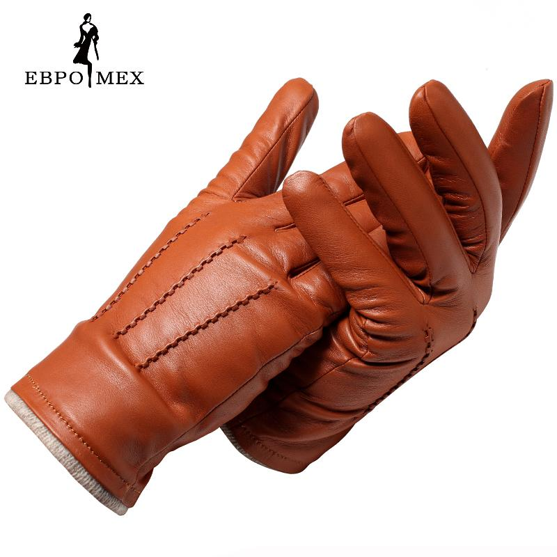 dd7a207181f 2017 autumn and winter fashion leather gloves men leather gloves brown and  black men designer style Genuine