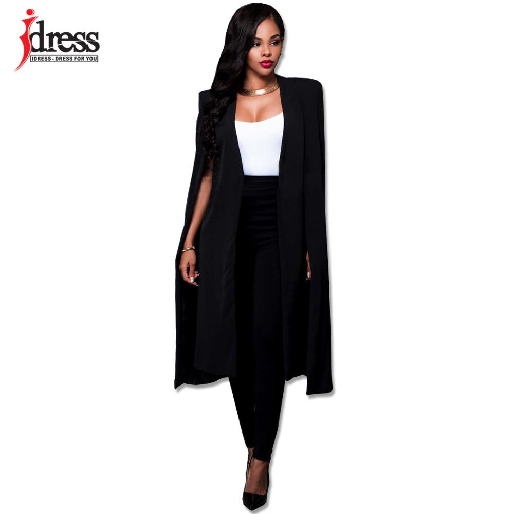 4e2865588877 Acheter IDress Mode Blazer Cape Manteau Long Cape OL Blazer Vestes  Populaire Noir Blanc Cape Blazers Personnalité Femmes Costume Vestes  Y1891902 De  21.49 ...