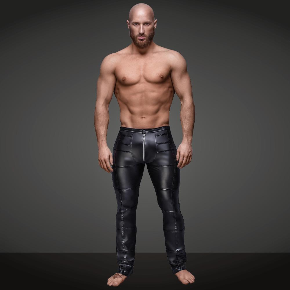 aabd191eaa8 2019 FR Sexy Men S Faux Leather Pants