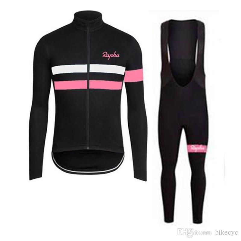 Рафа сиди команда Велоспорт длинными рукавами Джерси нагрудник брюки устанавливает мужские быстро сухой ropa ciclismo MTB одежда гоночная одежда C1418