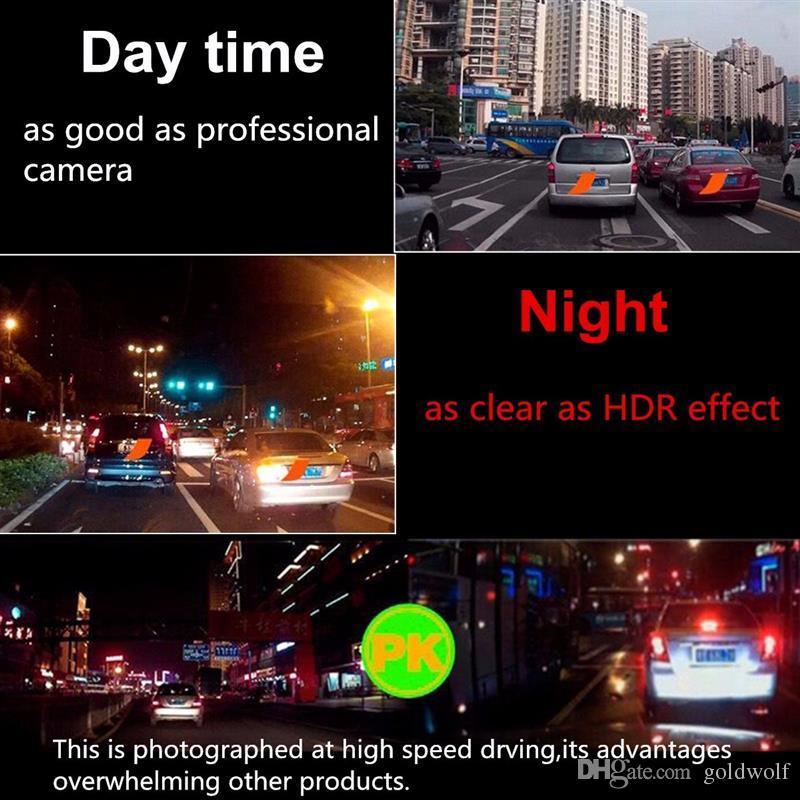 Hot M068 3.8 Pulgadas 1080 P HD 140 Ángulo de Visión Nocturna Espejo Retrovisor Cámara Dash Cam Grabadora de Vídeo Cámara de Reserva Reversa libre de DHL