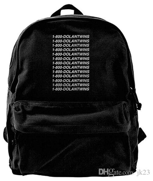 8880cb2816 Dolan Twins Canvas Shoulder Backpack Best Graphic Rowing Backpack For Men    Women Teens College Travel Daypack Black Running Backpack Osprey Backpack  From ...