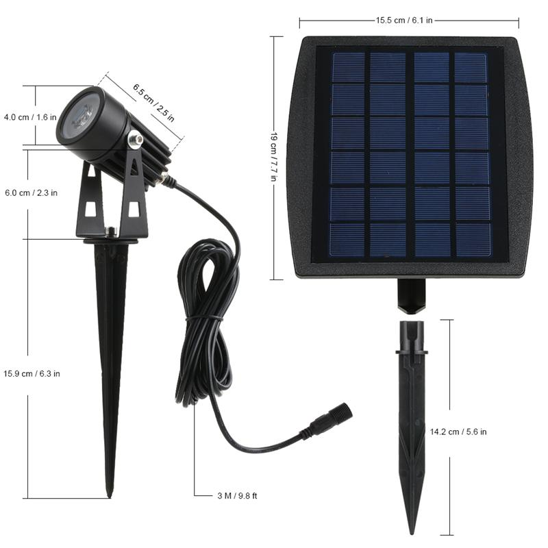 Simple Best Wholesale Led Light Outdoor Solar Powered Garden Landscape Lawn Lamp Solar 1panel With 2 Floodlight Spotlight Waterproof Yard Light Under $453 84 Minimalist - Luxury led yard lights Top Design